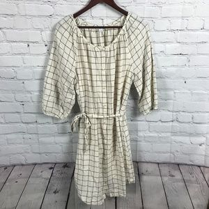 Old Navy Cotton and Rayon Blend Plaid Shirt Dress